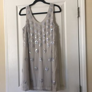 French Connection Dresses - French connection beaded shift dress size 8